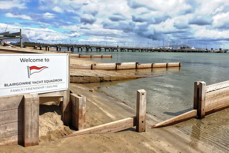 Blairgowrie where beachhuts were