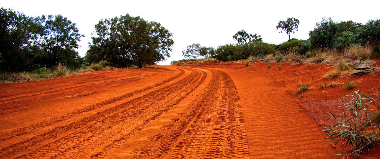 Australia's outback ochre dirt roads