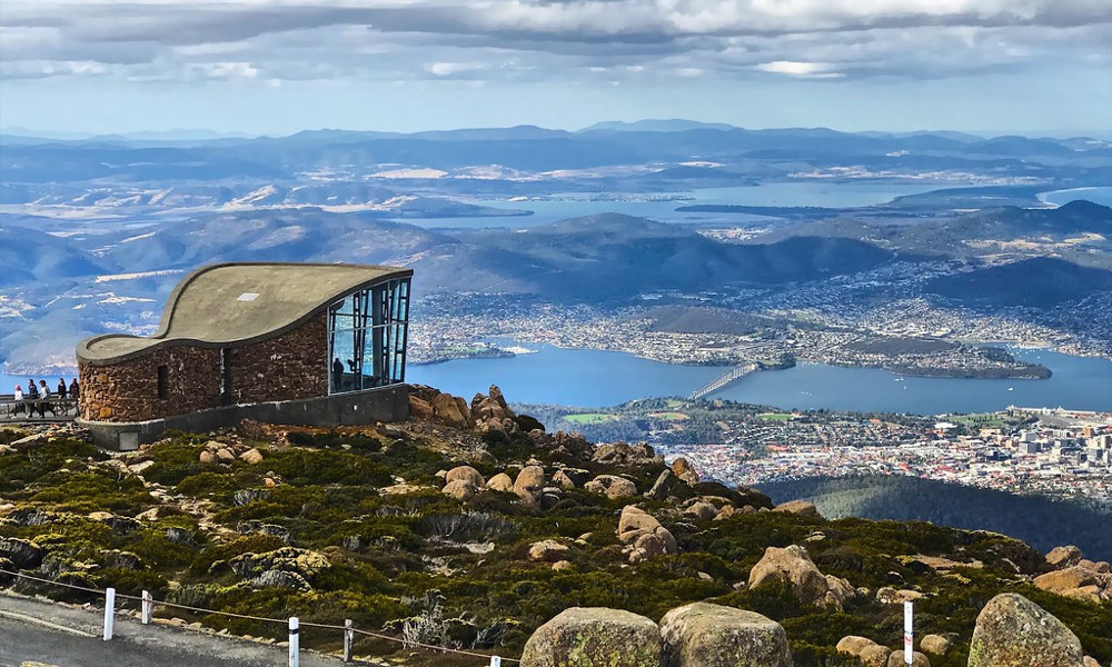 Hobart from Mount Wellington, Tasmania, Australia @Mark Pegrum