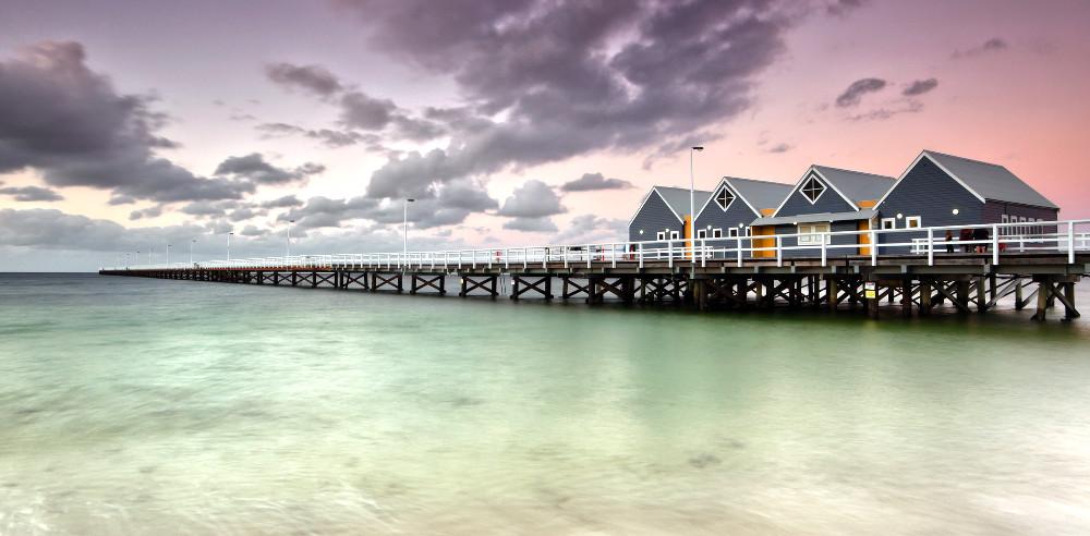Busselton Jetty, The longest pier in the Southern Hemisphere,Margaret River Region, Australia
